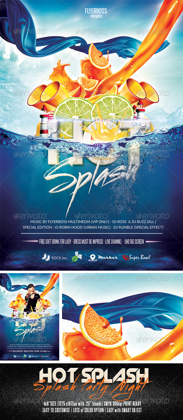 GraphicRiver Hot Splash Flyer 7626643