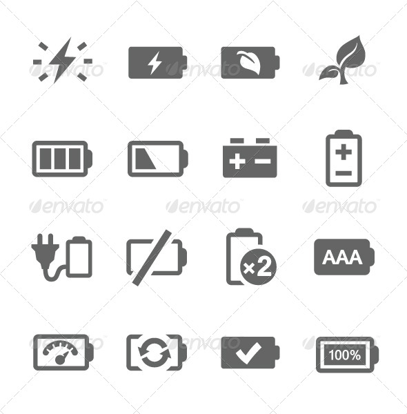 GraphicRiver Battery Icons 7627026