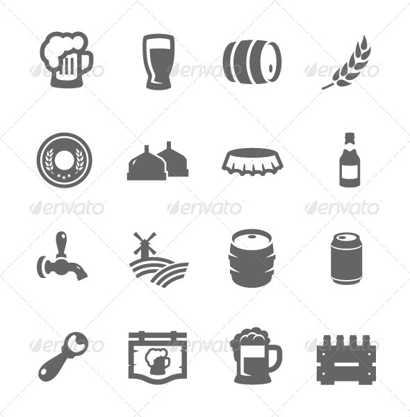 GraphicRiver Beer Icons 7627064