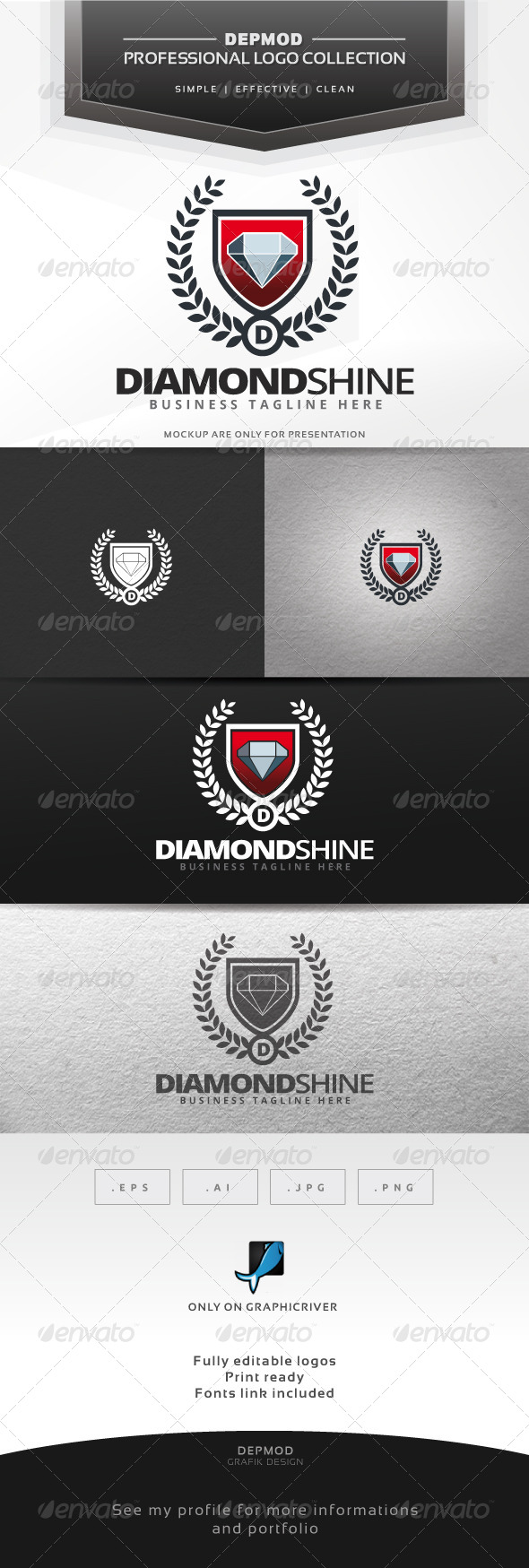 GraphicRiver Diamond Shine Logo 7627070