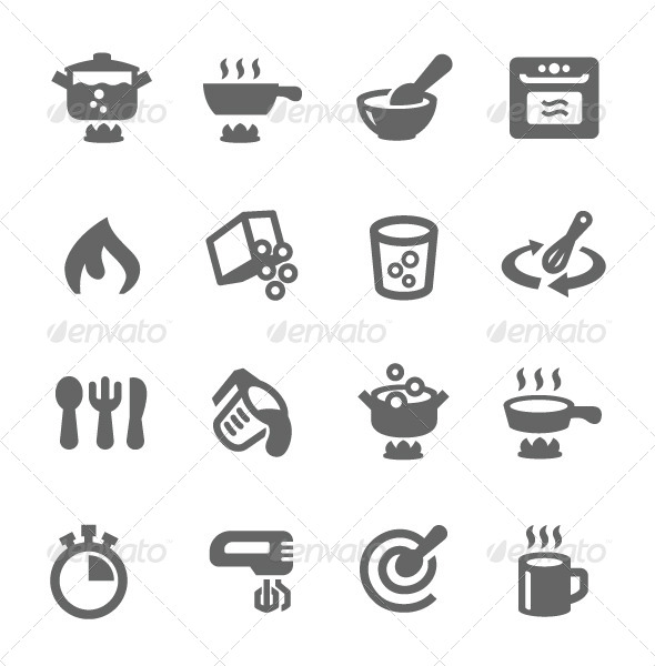 GraphicRiver Cooking Icons 7627194