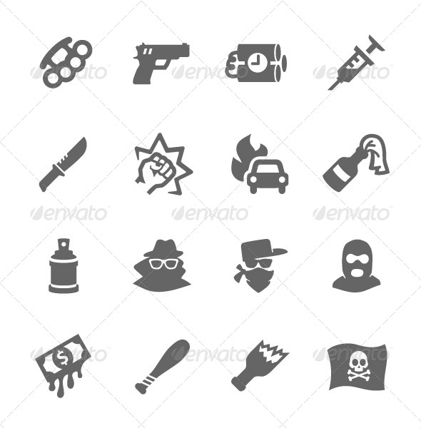 GraphicRiver Crime Icons 7627238
