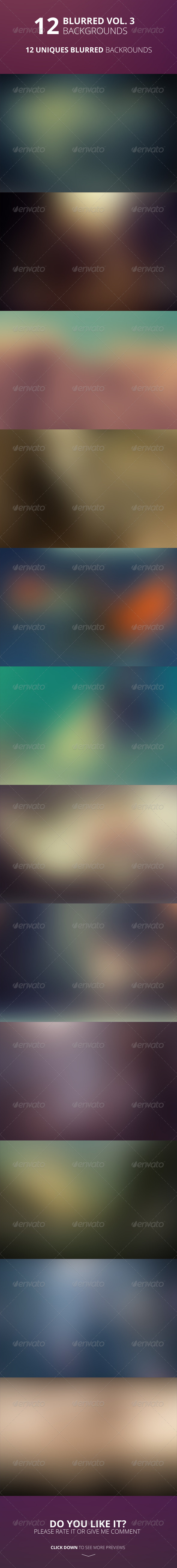 GraphicRiver 12 Blurred Backgrounds Vol 3 7627346