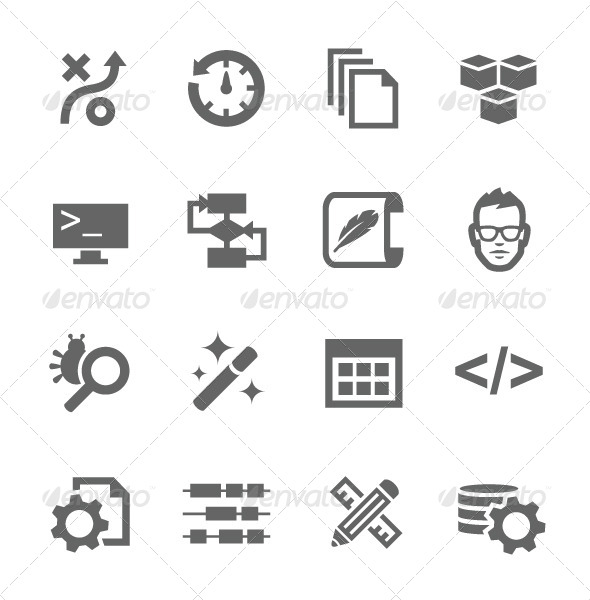 GraphicRiver Development Icons 7627436