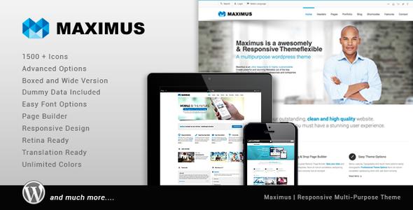Maximus - Responsive Multi-Purpose Theme - Business Corporate