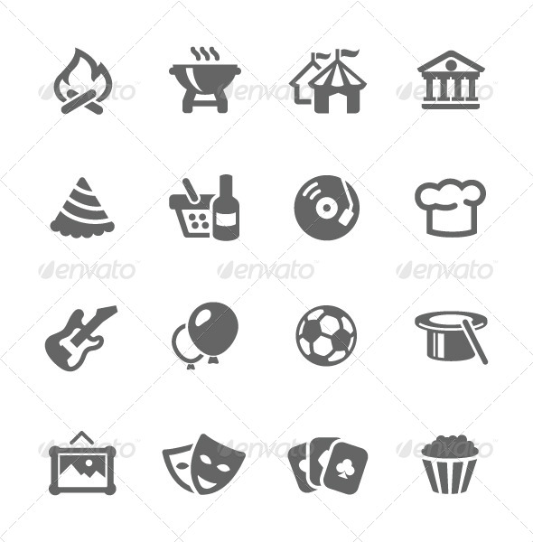 GraphicRiver Event Icons 7628096