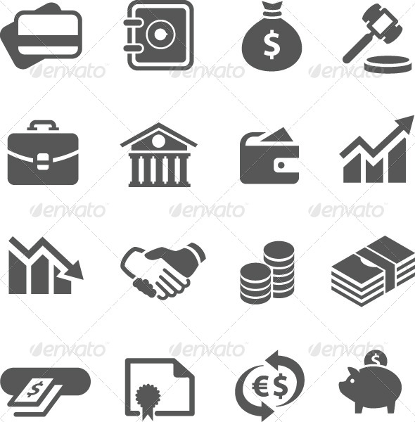 GraphicRiver Financial Icons Set 7628591