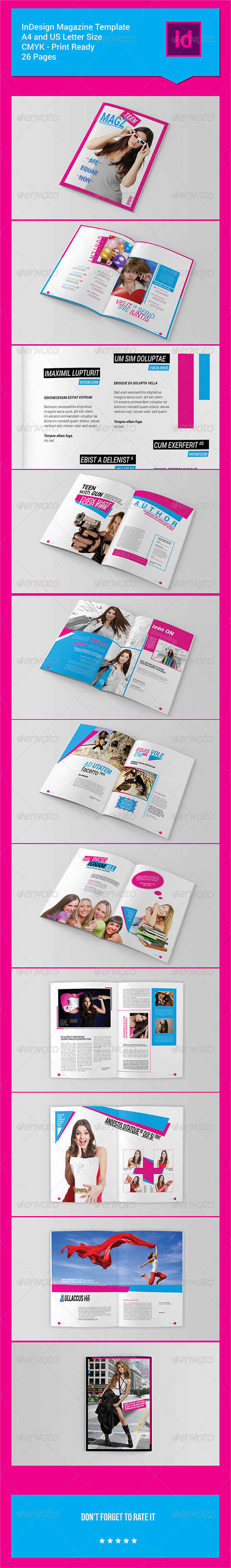 GraphicRiver 26 Pages InDesign Magazine Template 7628613