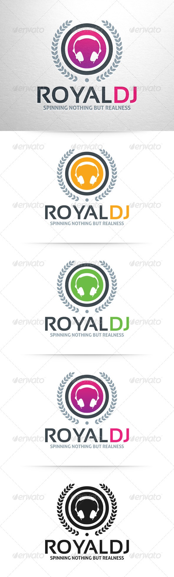 GraphicRiver Royal DJ Logo v2 7628627