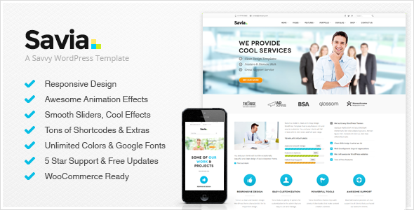Savia - Responsive Multi-Purpose Wordpress Theme - Business Corporate