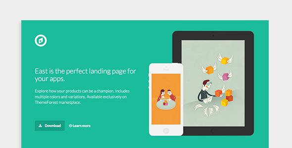 East - App Landing Page