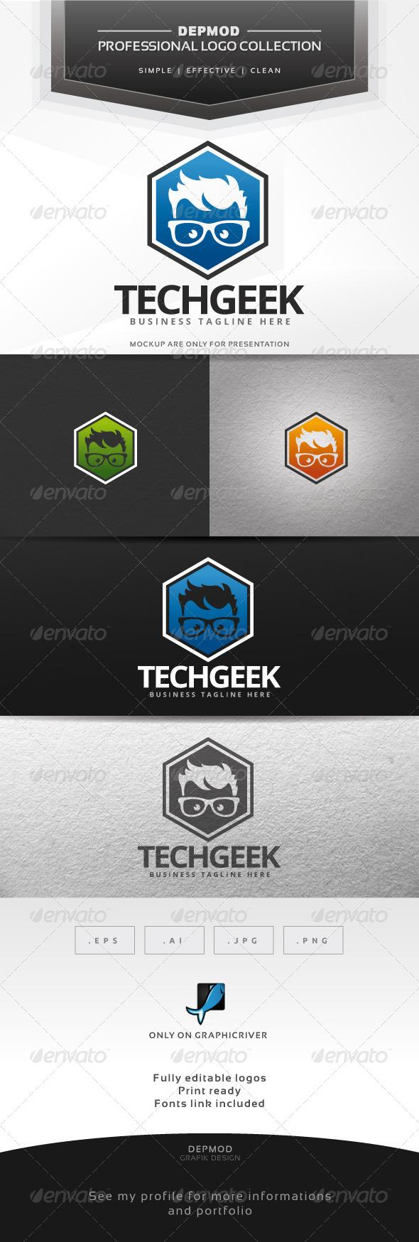 GraphicRiver Tech Geek Logo 7628712