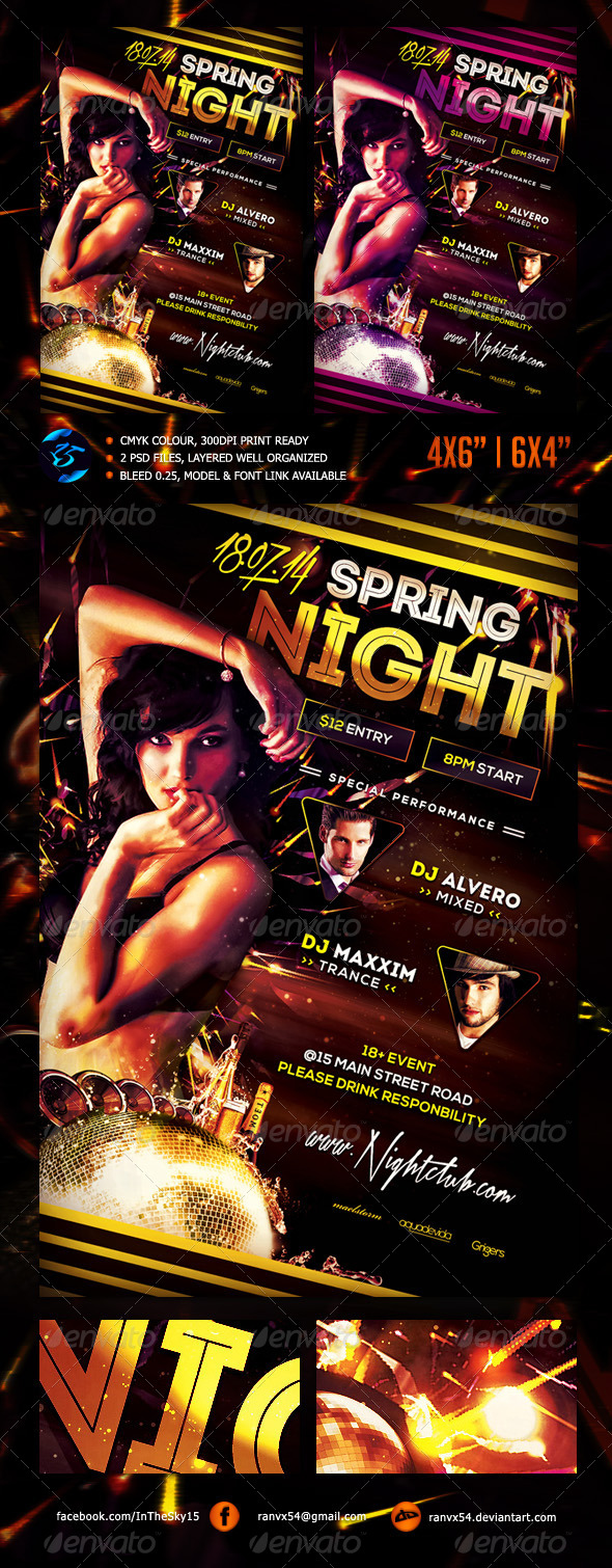 GraphicRiver Spring Night Flyer Template 7628963