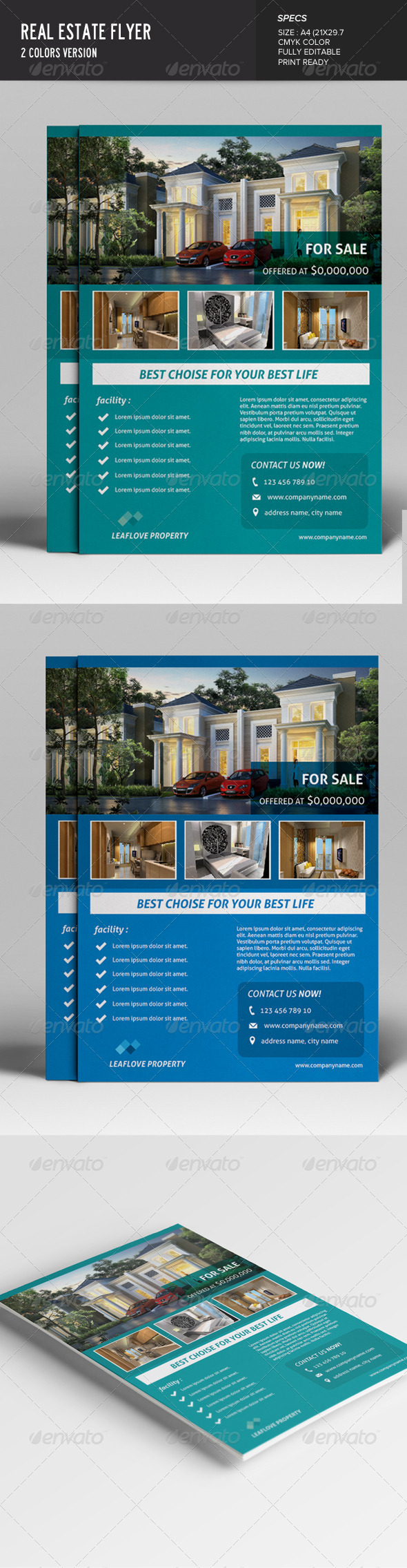 GraphicRiver Real Estate Flyer 7628972