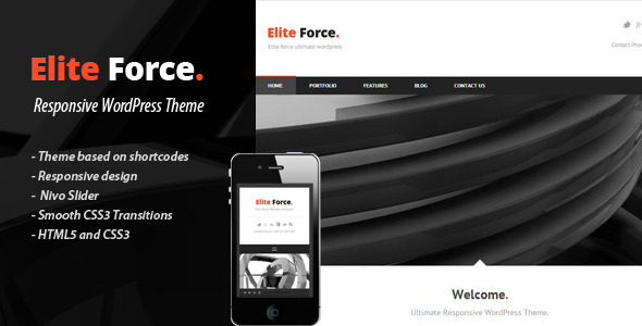 ELITE FORCE - Premium Wordpress Theme - Corporate WordPress