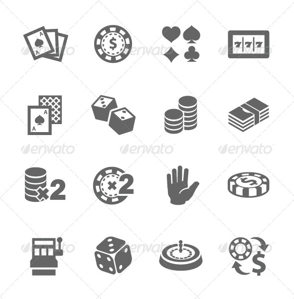 GraphicRiver Gambling Icons 7628976