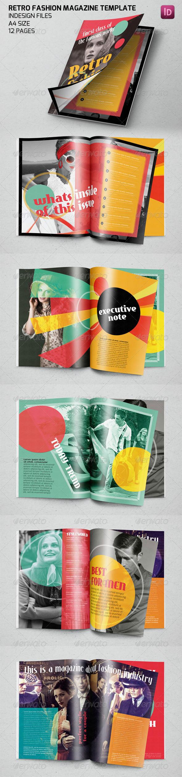 GraphicRiver Retro Fashion Magazine Template 7628983