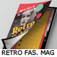 Retro Fashion Magazine Template - GraphicRiver Item for Sale