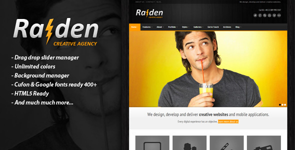 RAIDEN - Premium Wordpress Theme - Business Corporate