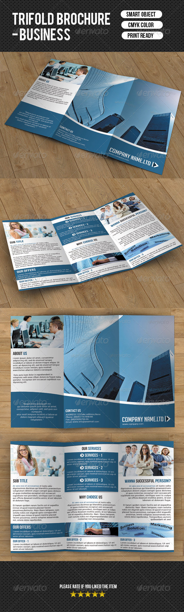 GraphicRiver Trifold Brochure-Business 7629125