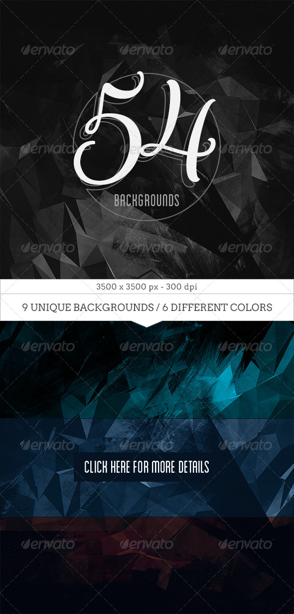 GraphicRiver 54 Dark Abstract Backgrounds 7629527