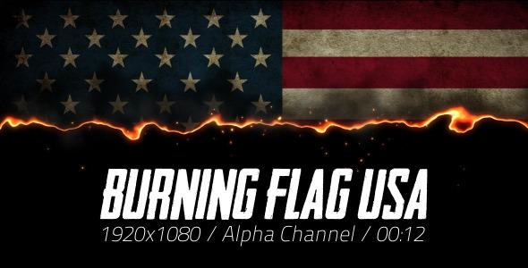 Burning Flag USA 2