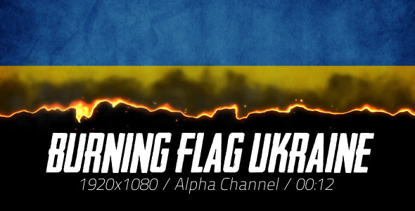 Burning Flag Ukraine 2