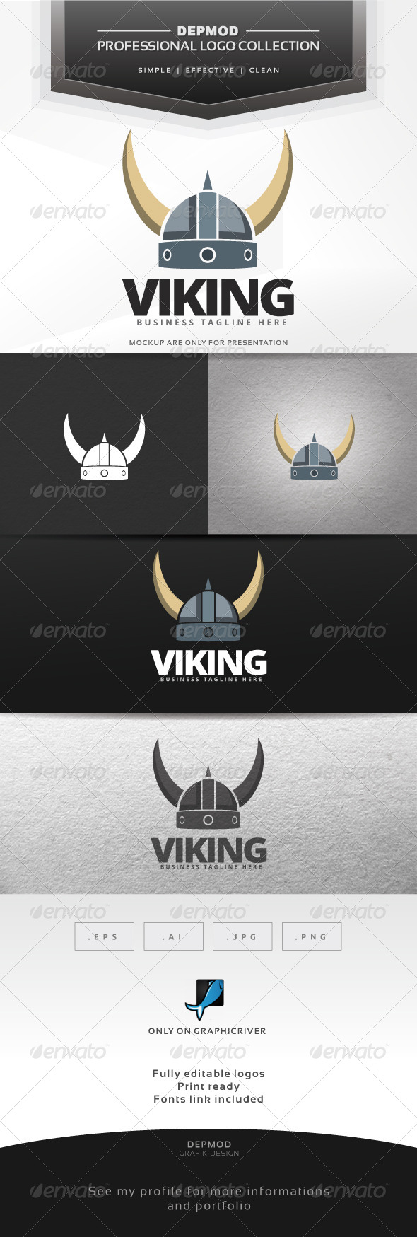 GraphicRiver Viking Logo 7629779