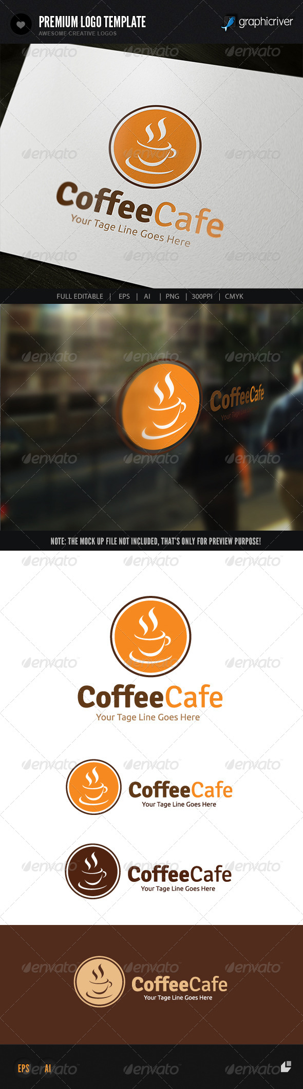 Coffee Cafe - Food Logo Templates