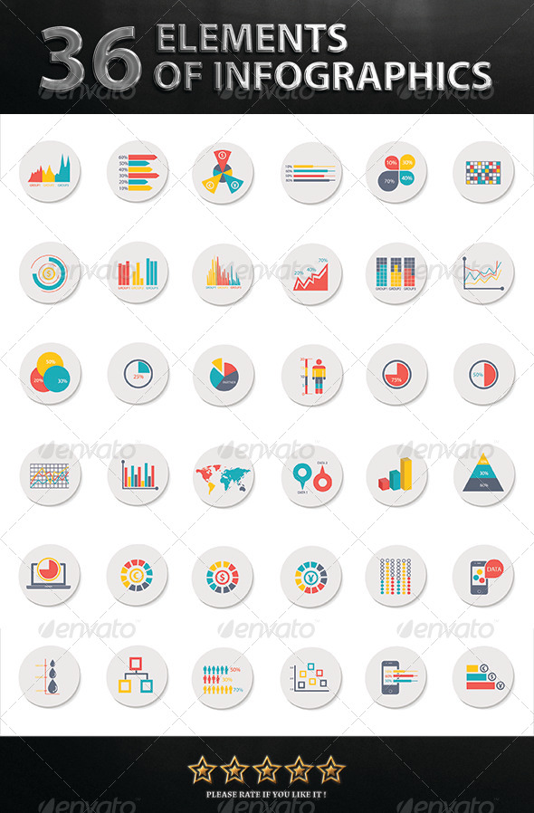 GraphicRiver 36 Elements of Infographics 7629858