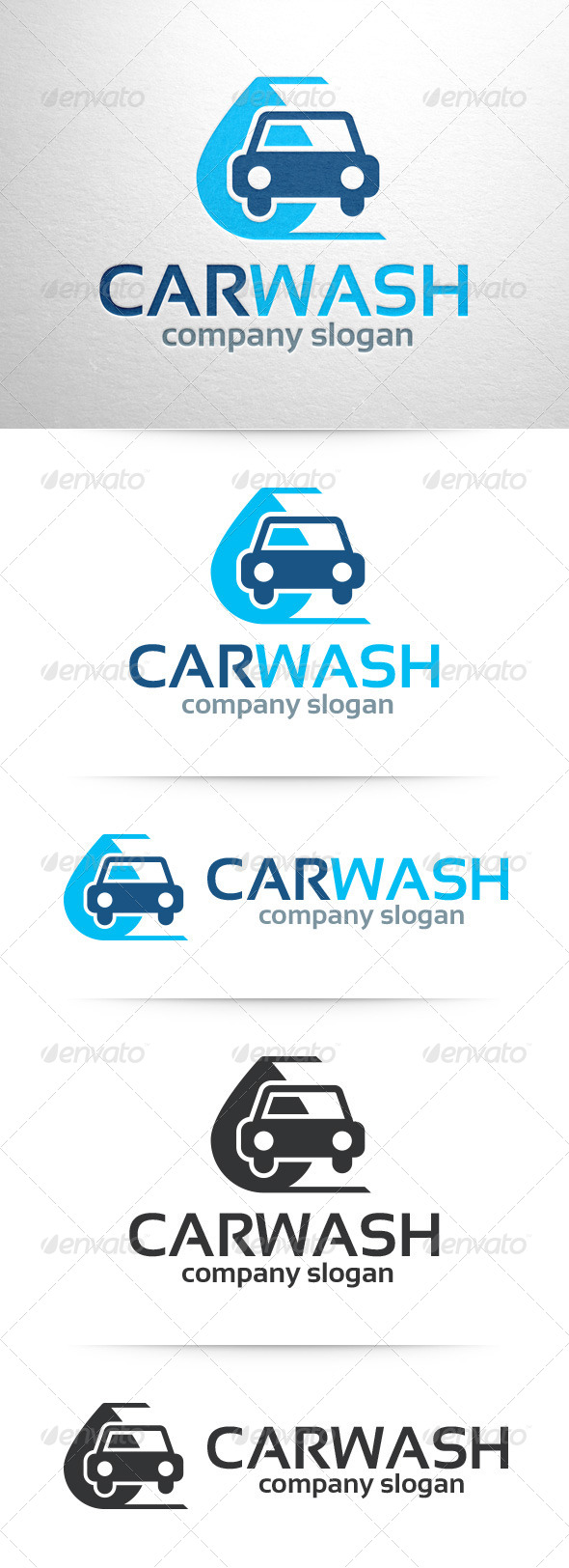 GraphicRiver Car Wash Logo v2 7629868