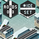 Isometric Galleries and Tunnels on Frozen Terrain - GraphicRiver Item for Sale