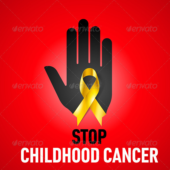 GraphicRiver Stop Childhood Cancer sign 7630214