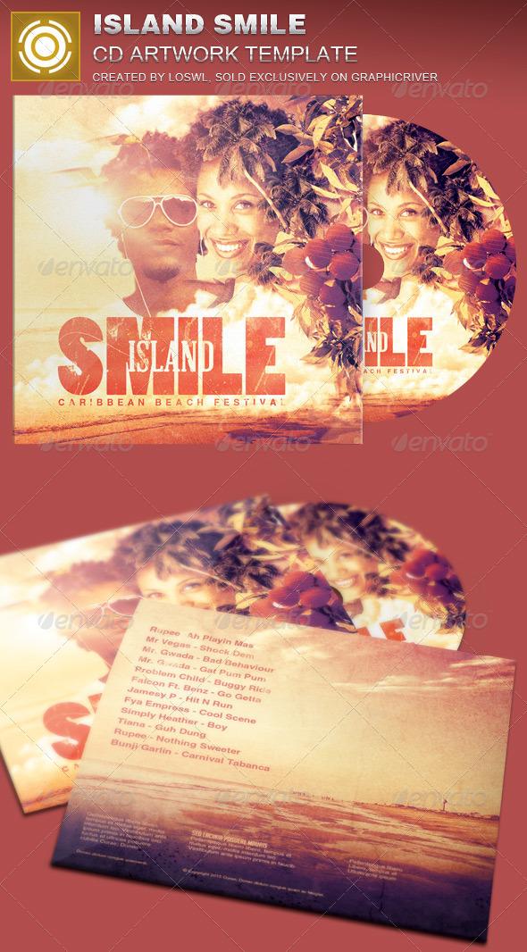 GraphicRiver Island Smile CD Artwork Template 7630261