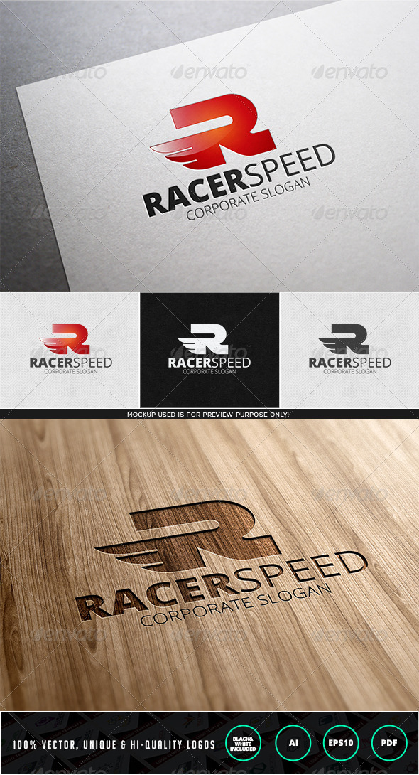 GraphicRiver Racer Speed Logo Template 7630527