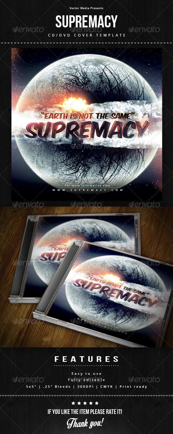 GraphicRiver Supremacy CD Cover 7630643