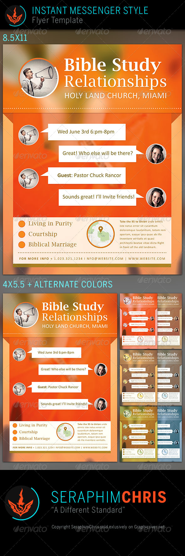 Relationships Bible Study: Church Flyer Template - Church Flyers