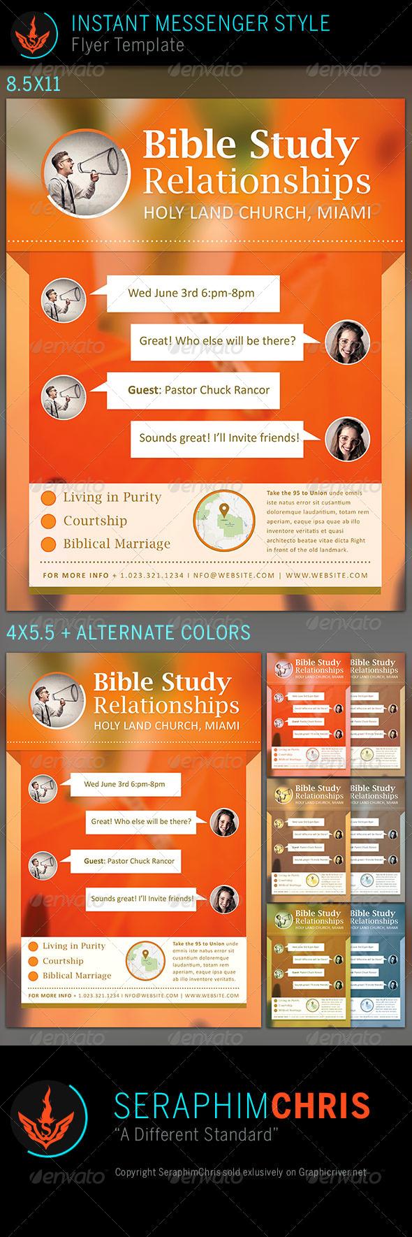 Relationships Bible Study: Church Flyer Template - Church Flyers