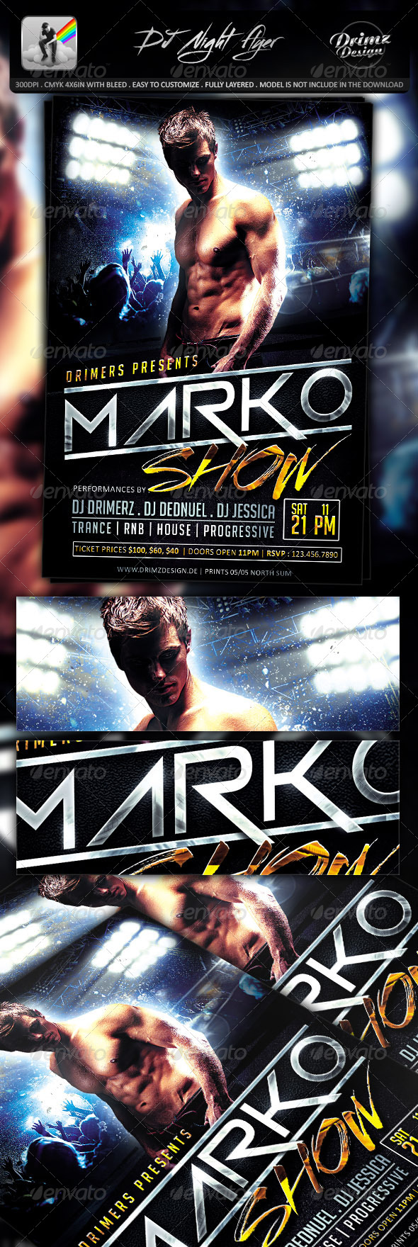 GraphicRiver DJ Night Flyer 7630660