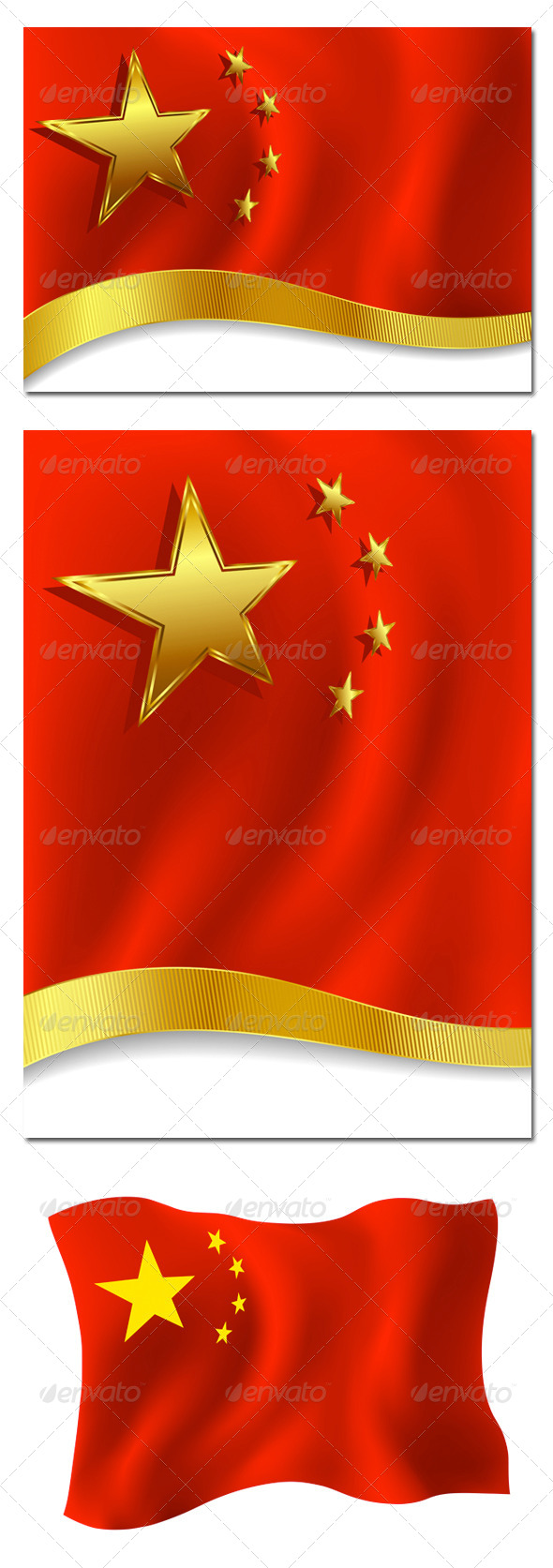 Chinese Backgrounds and Chinese Flag