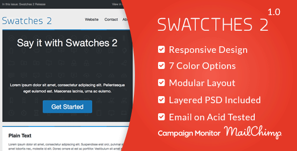 ThemeForest Swatches 2 Responsive Email Template 7630937