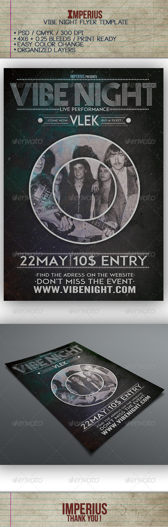 GraphicRiver Vibe Night Flyer 7630998