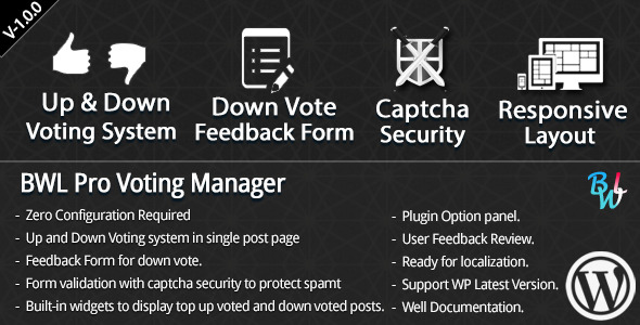 CodeCanyon BWL Pro Voting Manager 7616885