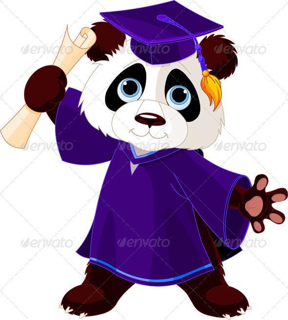 GraphicRiver Panda Graduates 7631203