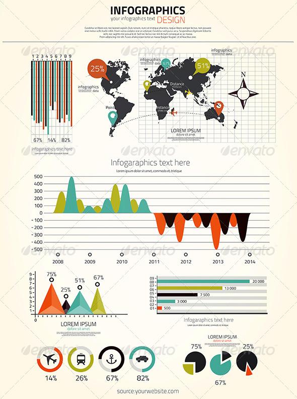 GraphicRiver Infographics Set 7510451