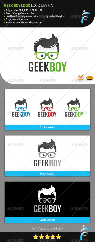 GraphicRiver Geek Boy Logo 7631341