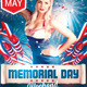 Memorial Independence Day Party Flyer - GraphicRiver Item for Sale