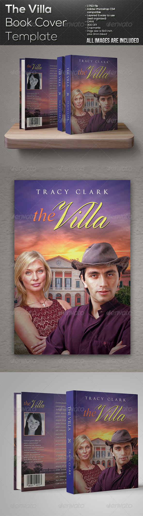 GraphicRiver The Villa Book Cover Template 7631592