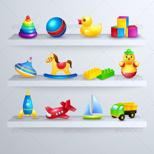GraphicRiver Toy Icons Shelf 7631601
