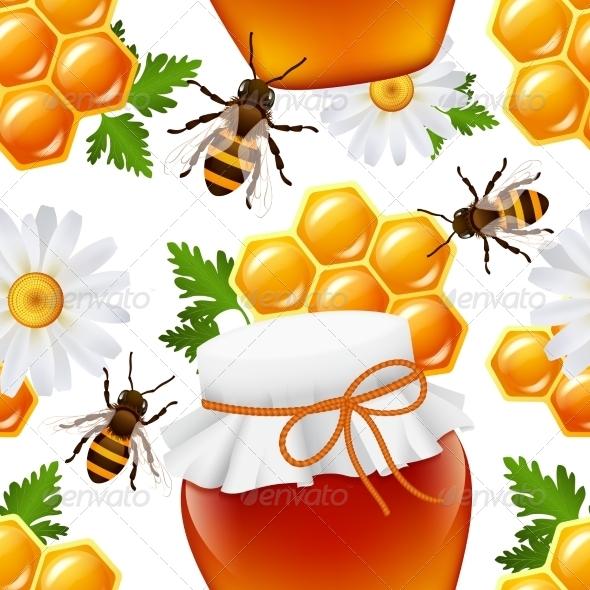 GraphicRiver Honey Seamless Pattern 7631616